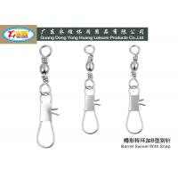 Wholesale Barrel shaped saltwater Stainless Steel Fishing Swivels with snap from china suppliers