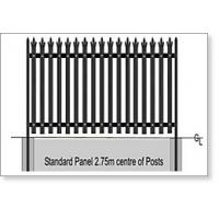Wholesale 1.2 - 3.6 m Height Steel Palisade Security Fence Systems For Schools / Industrial Sites from china suppliers