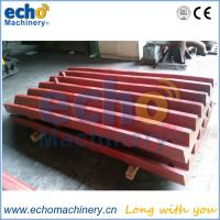 high manganese jaw plates for jaw crusher spare parts