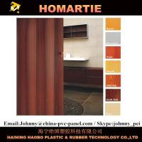Wholesale Dark Walnut Modern PVC Accordion Door House ISO CIQ Certificated from china suppliers
