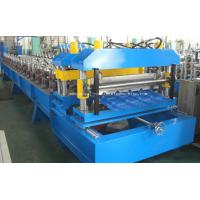 Wholesale 18 Stations 0.6MM Forge Metal Tile Roll Forming Machine Hydraulic Automatic Cutting from china suppliers