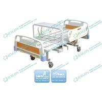 Wholesale Cold - rolled Steel medical Manual Hospital Bed With Drainage Hook and Bedside cabinet from china suppliers