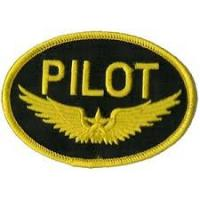 Wholesale Pilot Gold Wings  Aircraft Patch Iron On Application from china suppliers