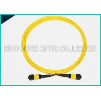 Wholesale 3.0mm Low Insertion 24x Lanes MTP Female Fiber Optic OS2 Singlemode Trunk Yellow Cable from china suppliers