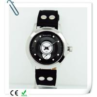 Wholesale Men Round steel Case 5ATM Genuine Leather Quartz Watch OEM WRIST STYLE from china suppliers