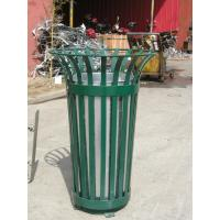 Wholesale Galvanized / Powder Coat Metal Trash Bin from china suppliers
