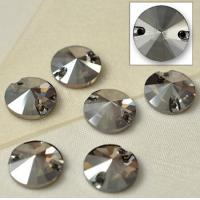 Wholesale nice quality rivoli sew on button crystal stone black diamond from china suppliers