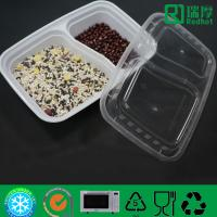 Two Compartments Divided Disposable PP Food Container / PlasticTableware