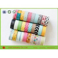 Wholesale Paper Core Decorative Washi Tape For Masking , Custom Design Printed Masking Tape from china suppliers