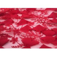 "Wholesale Red Embroidery Wedding Lace Fabric 3d Flower 50-51"" Width For Home Textile from china suppliers"