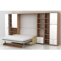 Vertical Transformable  Modern Murphy Beds Wall Beds with Linked Sofa