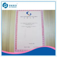 Wholesale Glossy Certificate Printing Service from china suppliers