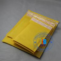 Wholesale 20cm*25cm yellow gold paper kraft  cushioned air bubble mailer for electronic components from china suppliers