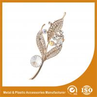 Wholesale Alloy / Silver Leaf Shape Jewellery Brooches For Wedding Dress from china suppliers
