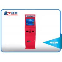 Wholesale Red 55 inch IP66 free standing kiosk waterproof media floor standing kiosk from china suppliers