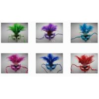 Wholesale Halloween Venetian Masquerade Mardi Gras Party Eye Mask With Feathers from china suppliers