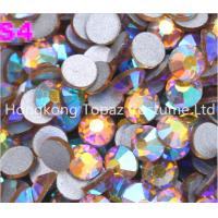 Wholesale Topaz ab crystal Rhinestones,Flat Back Non hot fix Rhinestones clothing from china suppliers