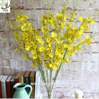 Wholesale UVG Yellow decorative orchids plastic artificial flower factory for home garden decoration from china suppliers