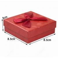 Wholesale Red Cardboard Ring Jewelry Gift Boxes , Presentation Boxes For Jewellery from china suppliers