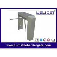 Wholesale Indoor / Outdoor Semi - Automatic Turnstile Security Gates With 490mm Arm Length from china suppliers