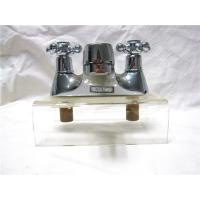 Wholesale Chrome Plated Kitchen Pull Out Faucet / 2 Hole Kitchen Taps For Hot & Cold Water from china suppliers