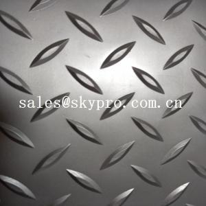 China Fireproof dot pattern Plastic Sheet grey PVC mat durable matt floor covering car floor mat on sale