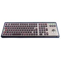 Wholesale Easy cleaning metal panel mount keyboard / usb keyboard with trackball dirtproof from china suppliers
