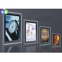 Wholesale Silver Single Side LED Slim Crystal Frame Light Box Wall Display Round Corner from china suppliers