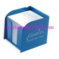 Wholesale Acrylic office supplies plexiglass memo pad holder for office use from china suppliers