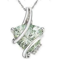 Wholesale Green Amethyst Trillian Cut Pendant from china suppliers