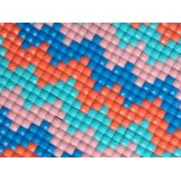 Wholesale 2.5mm square rhinestone plastic resin diamond mesh net sticker 24*40cm from china suppliers