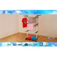 Wholesale Steel Tube Metal Clothes Rack Foldable Telescopic Pole For Drying Coat from china suppliers