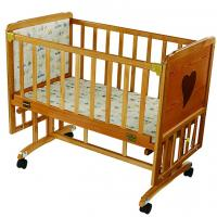 Wholesale Solid Wood Automatic Baby Swing Bed With Brakes Wheels , Modern Baby Cribs from china suppliers