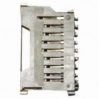 China Secure Digital Card Socket with Card Lock Function and Phosphor Bronze Alloy Contact on sale