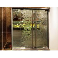 Wholesale Clear Interior Decorative Glass Doors , 800×2200mm Tempered Glass Partition from china suppliers