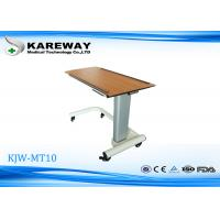 Quality Home Care Movable Hospital Tray Table , Overbed Hospital Table With Aluminum Column KJW-MT10 for sale