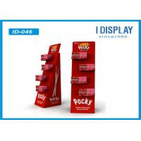Wholesale Red Food Display Stands  / Advertising Custom Cardboard Displays With Head Card from china suppliers