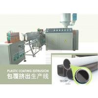 Wholesale PVC Plastic Coating Machine With Single Screw Extruder , Plastic Production Line from china suppliers