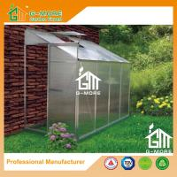 Wholesale 8'x4'x6.7'FT Silver Color Single Door Wall Lean-To Series Garden Greenhouse from china suppliers