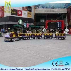 Wholesale Hansel hot sale tourist amusement kiddie rides amusement park trains for sale from china suppliers