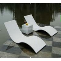 Wholesale Metal Rattan Wicker Pool Lounge Chairs / Outdoor Sun Lounge Chairs Aluminium Frame from china suppliers
