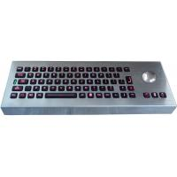 Wholesale Desktop movable illuminated metal keyboard with integrated trackball IP65 from china suppliers