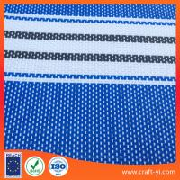 Wholesale blue with white color stripe 2X1 textilene mesh fabric for outdoor chair sunscreen from china suppliers