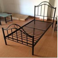Wholesale Black Iron Home Full Size Metal Beds Bedroom Furniture with White , Black or Custom Color from china suppliers
