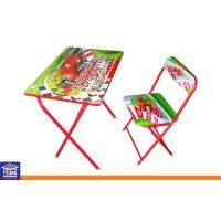 Buy cheap PE Coated Foldable Reading Study Table Furniture With Chair Sets from wholesalers