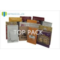 Wholesale Block Bottom Stand Up Pouch Packaging For Food / Phone Accessories from china suppliers