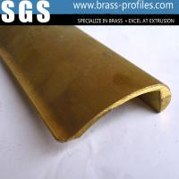 Wholesale Customer Designed Golden Yellow Extruded Pen Clips Brass Profiles from china suppliers
