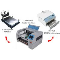 Buy cheap Desktop SMT Production Line Solder Paste Screen Printer CHMT530P Pick And Place Machine SMT Reflow Oven BRT-420 from wholesalers