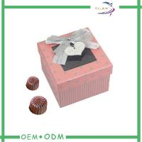 Wholesale Customized Ribbon Chocolate Gift Boxes Packaging With Transparent Window from china suppliers