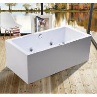 Wholesale 1600mm Indoor Contemporary White Soaking Freestanding Bath Tub / Indoor Jacuzzi Hot Tubs from china suppliers